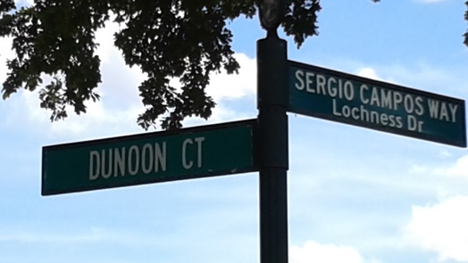 Sergio Campos Way in Lochness Miami Lakes Florida
