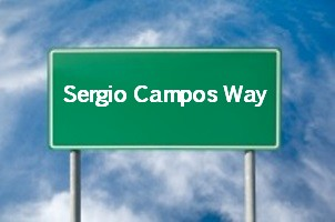 Sergio Campos Way street in Miami Lakes named 20015